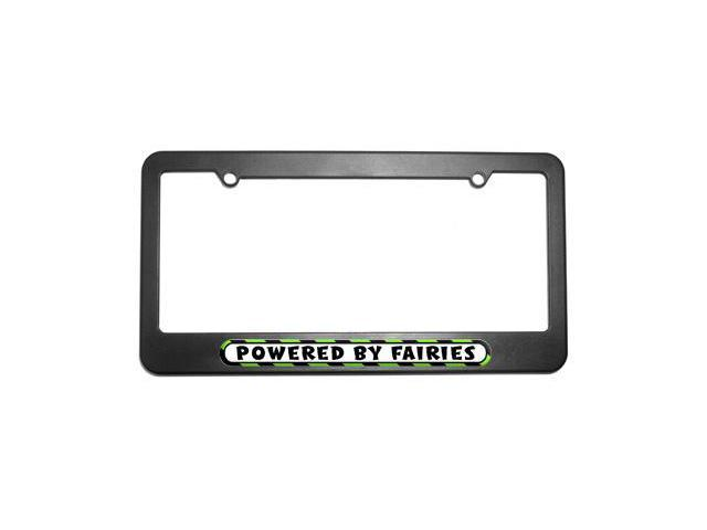 Powered By Fairies License Plate Tag Frame