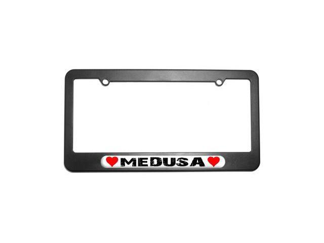 Medusa Love with Hearts License Plate Tag Frame