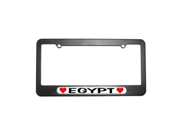 Egypt Love with Hearts License Plate Tag Frame