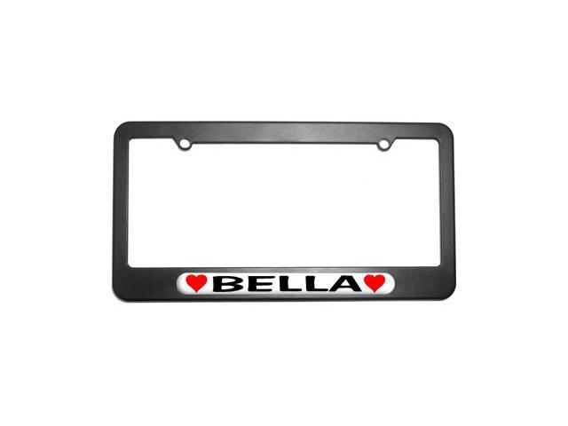 Bella Love with Hearts License Plate Tag Frame