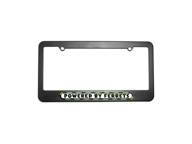 Powered By Ferrets License Plate Tag Frame