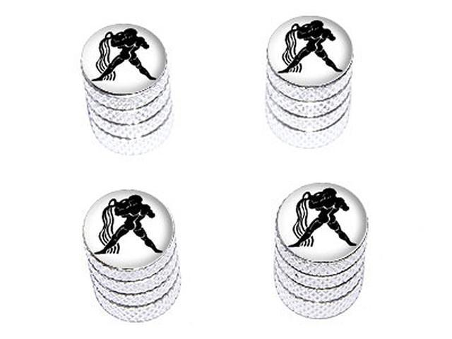 Aquarius Zodiac Horoscope - Tire Rim Wheel Valve Stem Caps - Aluminum