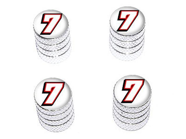7 Number Seven - Tire Rim Wheel Valve Stem Caps - Aluminum