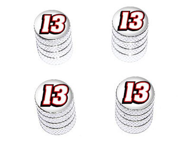13 Number Thirteen - Tire Rim Wheel Valve Stem Caps - Aluminum
