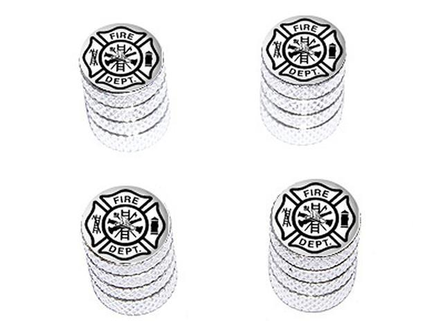 Iron Cross Fire Department - Tire Rim Wheel Valve Stem Caps - Aluminum