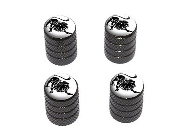Leo Zodiac Horoscope - Tire Rim Wheel Valve Stem Caps - Black