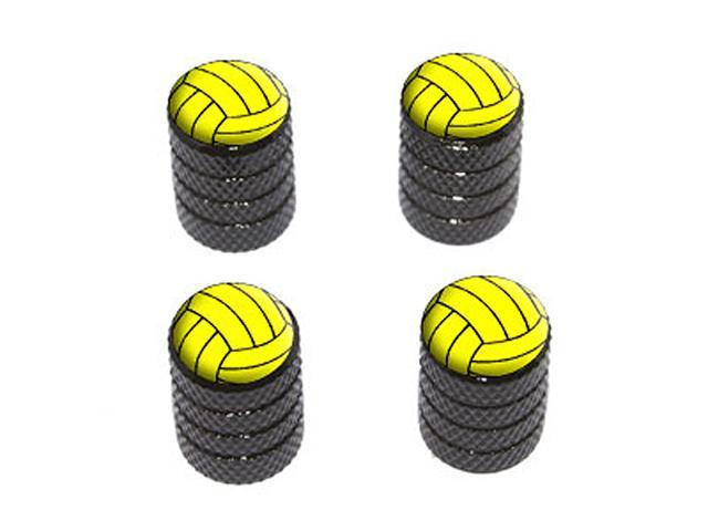 Water Polo Water Polo Ball - Tire Rim Wheel Valve Stem Caps - Black