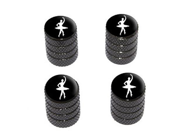 Ballet Ballerina - Tire Rim Wheel Valve Stem Caps - Black