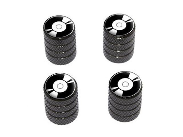 Record LP Album - Tire Rim Wheel Valve Stem Caps - Black