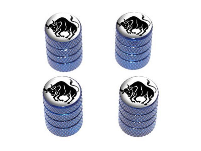 Taurus Zodiac Horoscope - Tire Rim Wheel Valve Stem Caps - Blue