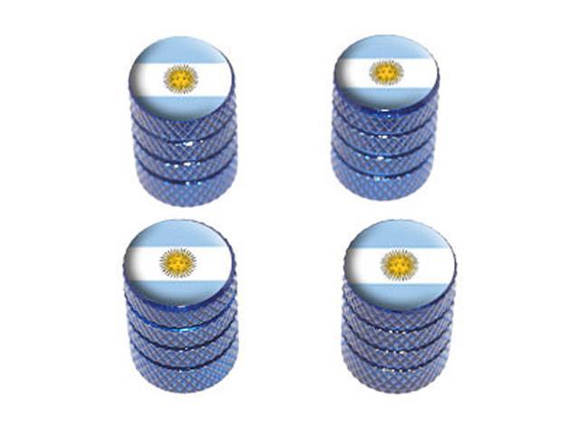 Argentina Flag - Tire Rim Wheel Valve Stem Caps - Blue