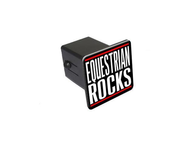 "Equestrian Rocks - 2"" Tow Trailer Hitch Cover Plug Insert"