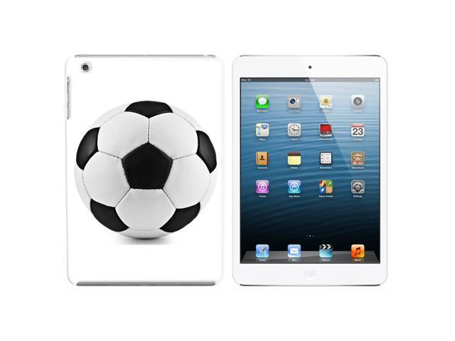 Soccer Ball Snap On Hard Protective Case for Apple iPad Mini - White - OEM