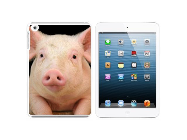Pig Piggy Snap On Hard Protective Case for Apple iPad Mini - White