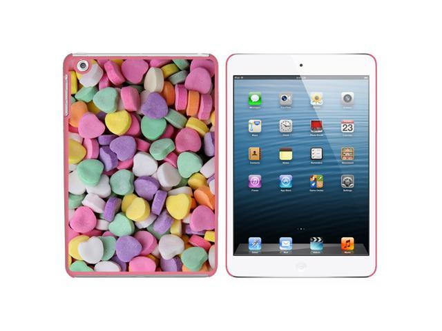 Candy Hearts Snap On Hard Protective Case for Apple iPad Mini - Pink - OEM
