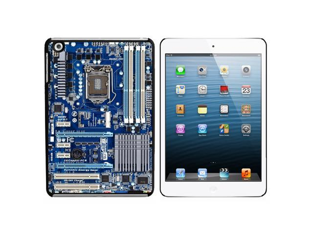 Blue Computer Motherboard - Processor CPU Memory Snap On Hard Protective Case for Apple iPad Mini - Black - OEM