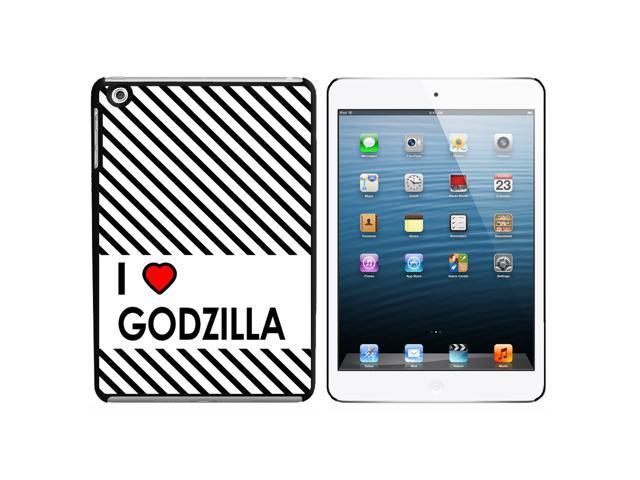 I Love Heart Godzilla Snap On Hard Protective Case for Apple iPad Mini - Black - OEM
