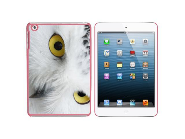 White Snowy Owl Snap On Hard Protective Case for Apple iPad Mini - Pink - OEM