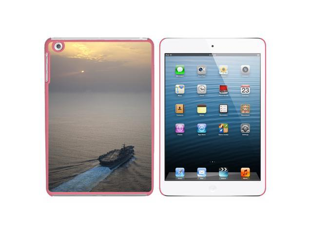 United States Navy Aircraft Carrier USS Enterprise Snap On Hard Protective Case for Apple iPad Mini - Pink