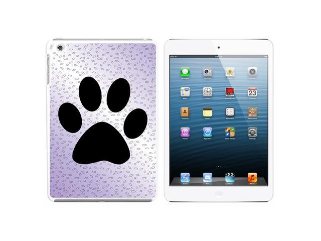 Paw Print of Awesomeness Purple Snap On Hard Protective Case for Apple iPad Mini - White