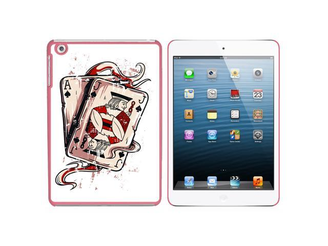 Ace Jack of Spades - Deck Cards Poker Gambling Snap On Hard Protective Case for Apple iPad Mini - Pink - OEM