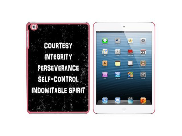 Five Tenets of Taekwondo Distressed Snap On Hard Protective Case for Apple iPad Mini - Pink - OEM