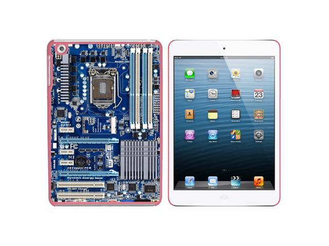 Blue Computer Motherboard - Processor CPU Memory Snap On Hard Protective Case for Apple iPad Mini - Pink