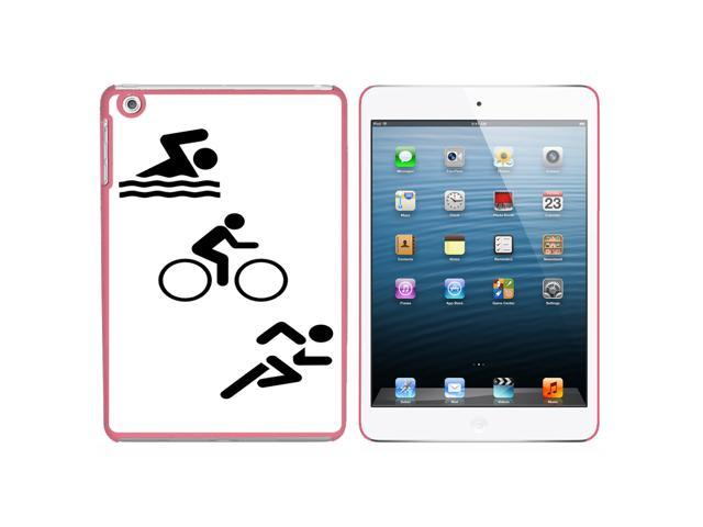 Triathlete Swim Bike Run - Triathlon Snap On Hard Protective Case for Apple iPad Mini - Pink - OEM