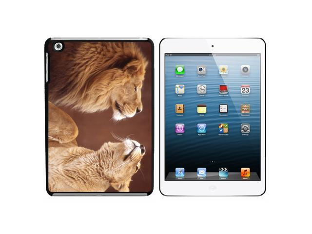 Male and Female Lions Snap On Hard Protective Case for Apple iPad Mini - Black - OEM