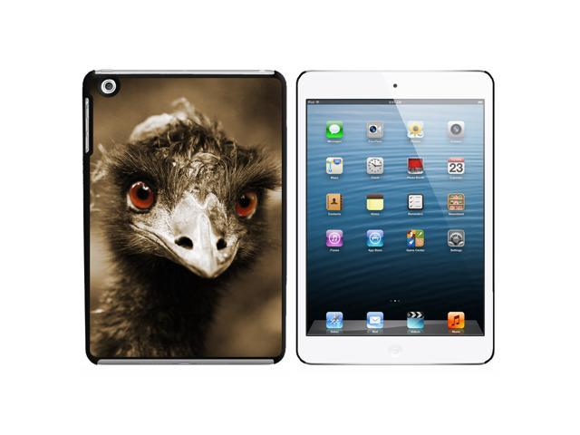 Funny Ostrich Bird Snap On Hard Protective Case for Apple iPad Mini - Black - OEM