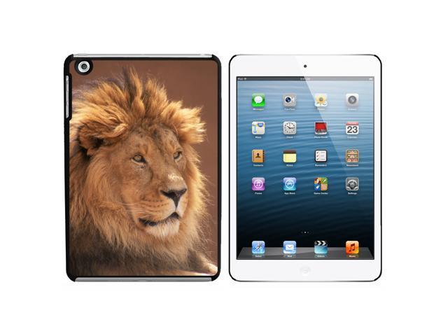 Male Lion Snap On Hard Protective Case for Apple iPad Mini - Black