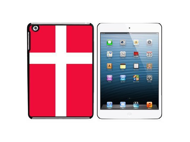 Denmark Flag Snap On Hard Protective Case for Apple iPad Mini - Black - OEM