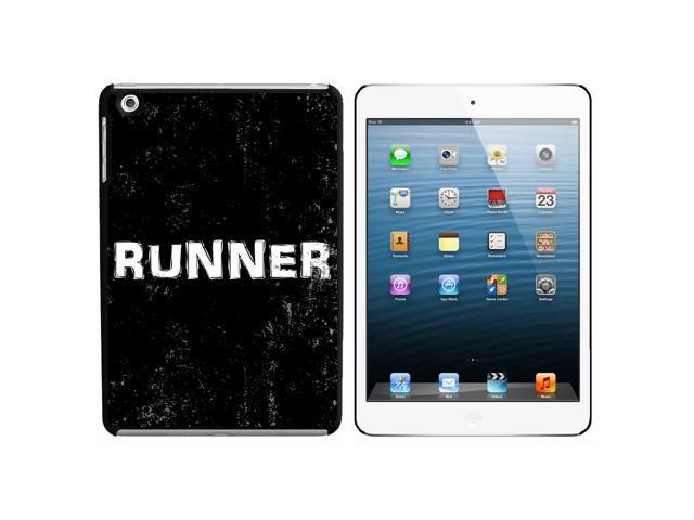 Runner Distressed - Marathon Jogging Snap On Hard Protective Case for Apple iPad Mini - Black - OEM