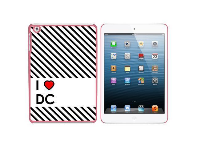 I Love Heart DC - Washington Snap On Hard Protective Case for Apple iPad Mini - Pink - OEM