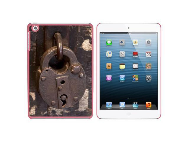 Lock Locked - Padlock Secure Snap On Hard Protective Case for Apple iPad Mini - Pink