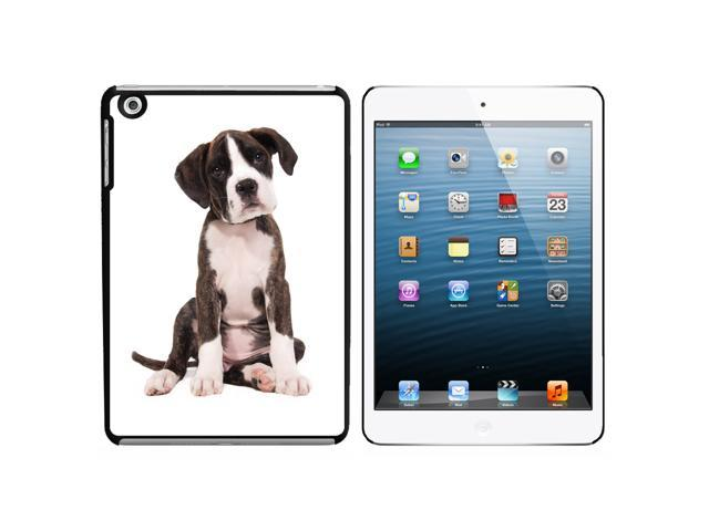 Puppy Dog - Boxer Snap On Hard Protective Case for Apple iPad Mini - Black