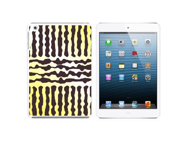 Urban Sketchy Yellow Gray Snap On Hard Protective Case for Apple iPad Mini - White - OEM