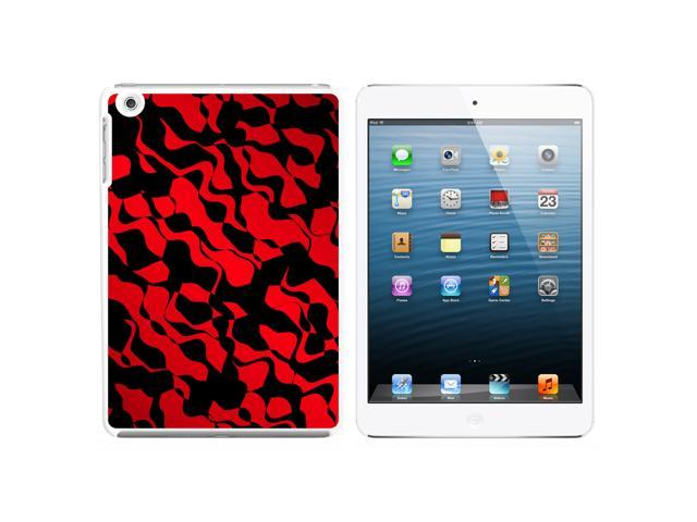 Urban Flow Red Black Snap On Hard Protective Case for Apple iPad Mini - White - OEM