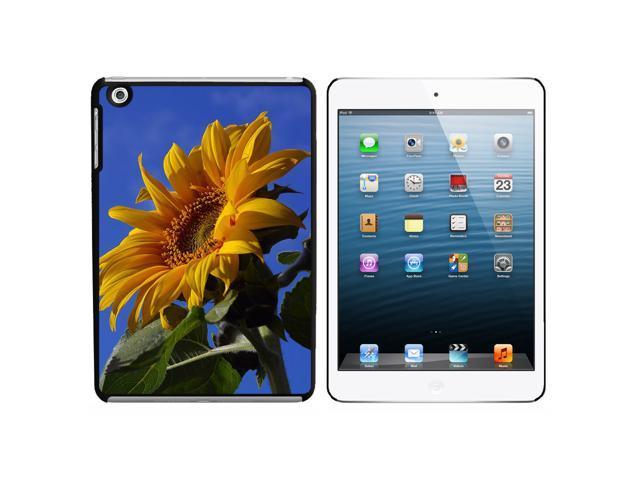 Sunflower Against Blue Sky Snap On Hard Protective Case for Apple iPad Mini - Black - OEM