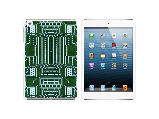 Empty Circuit Board Design Snap On Hard Protective Case for Apple iPad Mini - White