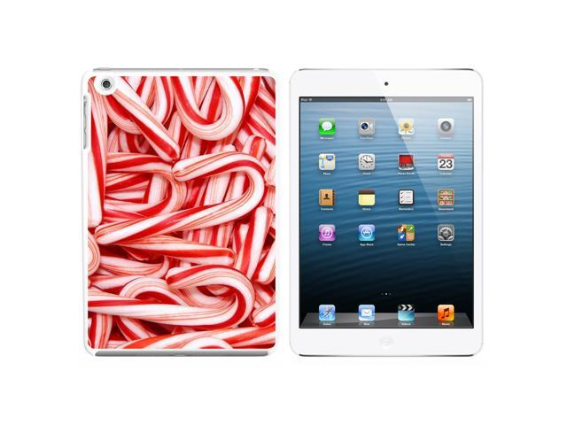 Christmas Candy Canes Snap On Hard Protective Case for Apple iPad Mini - White