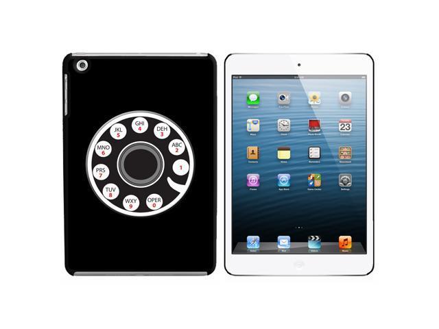 Retro Rotary Phone Snap On Hard Protective Case for Apple iPad Mini - Black