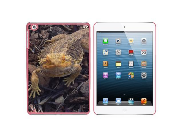 Bearded Dragon - Beardie Lizard Reptile Snap On Hard Protective Case for Apple iPad Mini - Pink