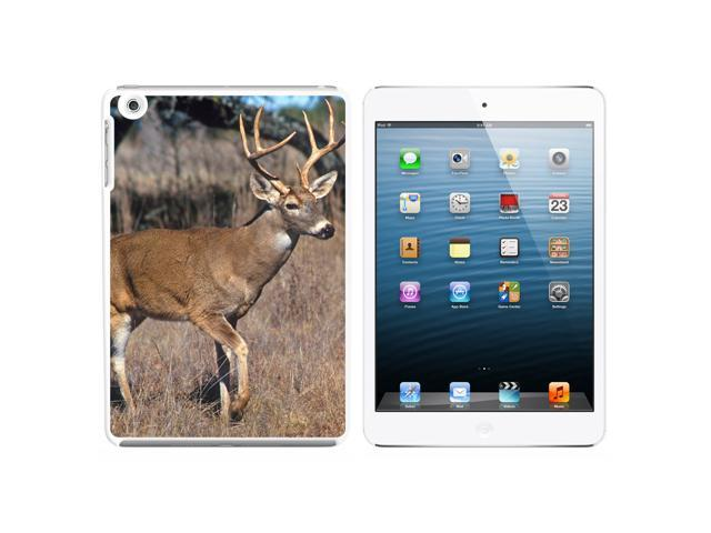 Deer - Hunting Snap On Hard Protective Case for Apple iPad Mini - White - OEM