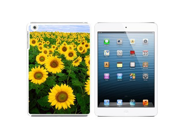 Field of Sunflowers Snap On Hard Protective Case for Apple iPad Mini - White