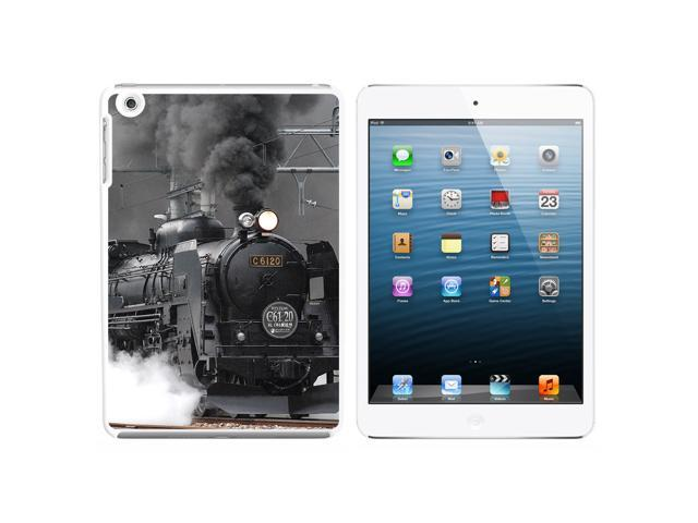 Steam Train Engine Locomotive Snap On Hard Protective Case for Apple iPad Mini - White