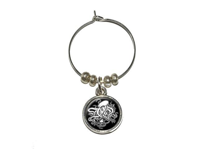 Cthulhu Wine Glass Charm Drink Stem Marker Ring