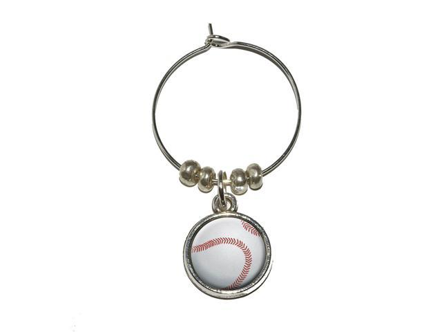 Baseball Sporting Goods Sportsball Wine Glass Charm Drink Stem Marker Ring - OEM