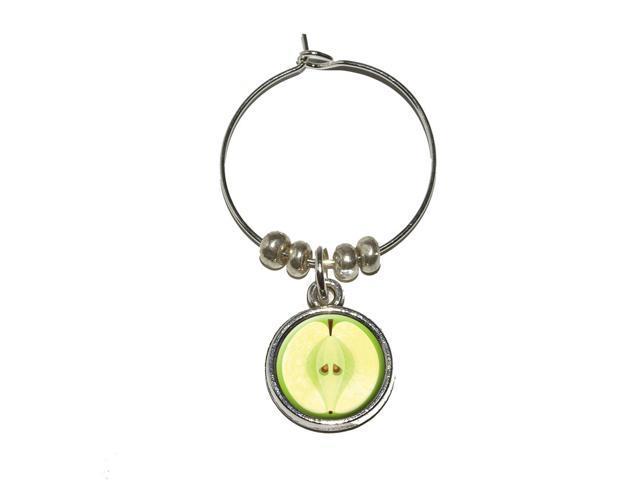Apple Fruit Wine Glass Charm Drink Stem Marker Ring