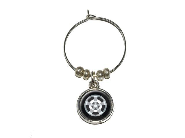 Tire Wine Glass Charm Drink Stem Marker Ring
